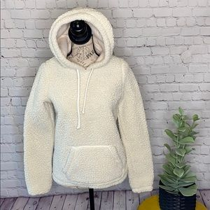 Hollister Teddy sherpa pullover hooded sweatshirt